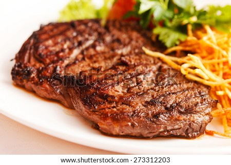meat with vegetables - stock photo