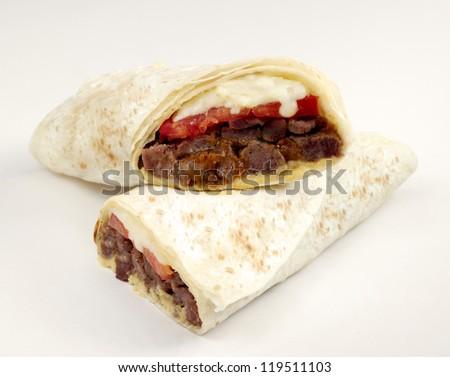 meat wrap - stock photo