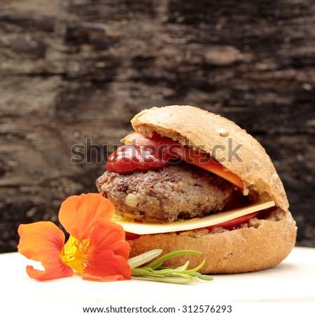 Meatball sandwiches - stock photo