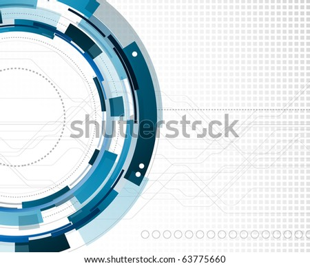 Mechanical abstract background - stock photo