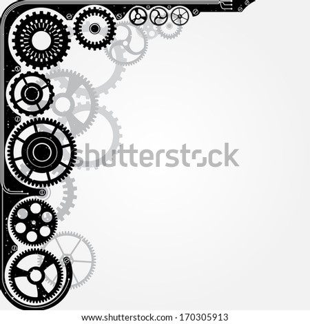Mechanical cog wheel frame. Abstract llustration. - stock photo
