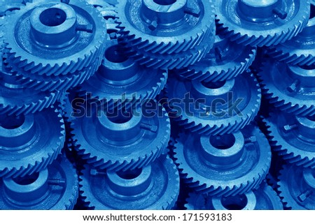 Mechanical equipment gear in a factory, closeup of pictures, north China - stock photo