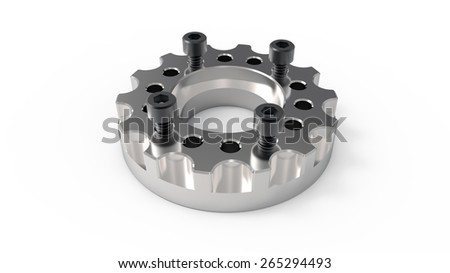 mechanical parts with screws (3d graphics). - stock photo