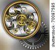 mechanism gears - stock photo