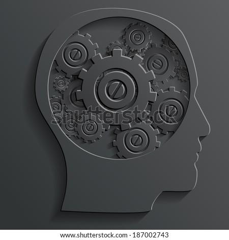 mechanism in head - stock photo