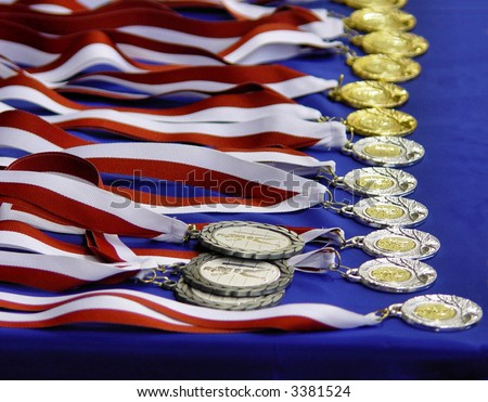 Medal & Ribbon - stock photo