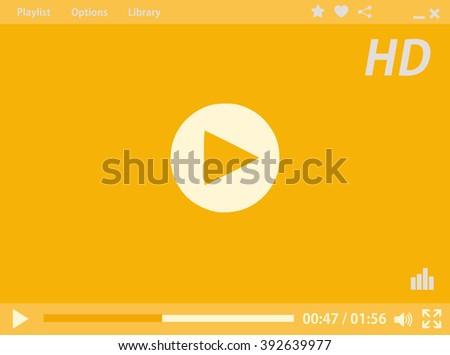 Media player - stock photo