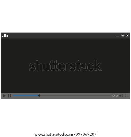 Media Player Design - stock photo
