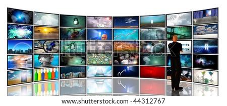 Media Screens - stock photo