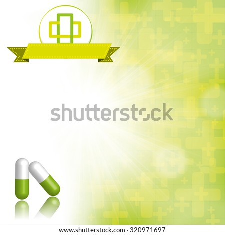 Medical abstract green white background  - stock photo