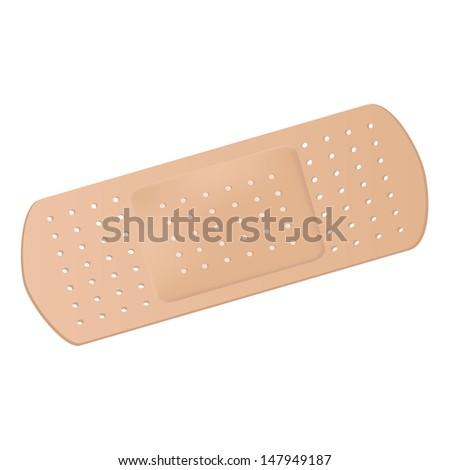 Medical adhesive bandage - stock photo