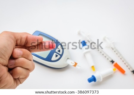 medical and diabetes  - stock photo