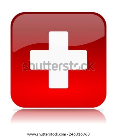 medical App Icon Illustration on White Background - stock photo