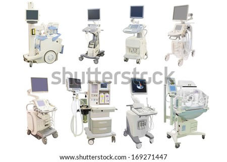 Medical apparatus isolated under the white background - stock photo