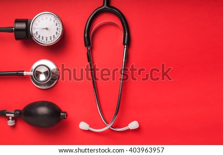 Medical background with space for text - stock photo