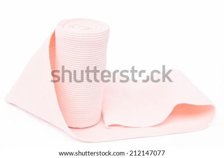 Medical bandage on a white background - stock photo