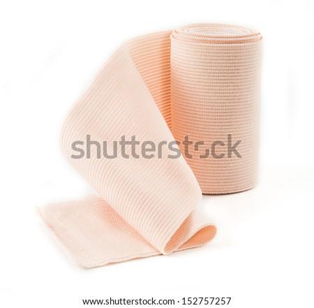 Medical bandage roll ,Elastic bandage - stock photo