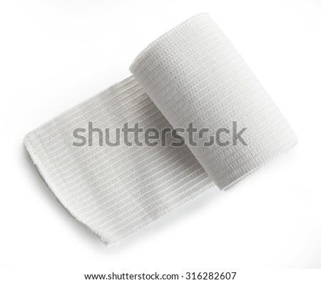 Medical bandage roll isolated - stock photo