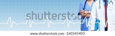 Medical banner. Health care doctor background with copyspace. - stock photo