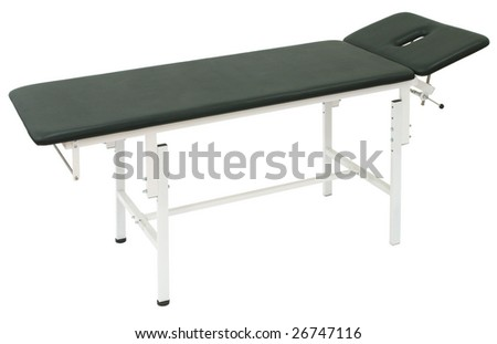 medical Bed on a white background - stock photo