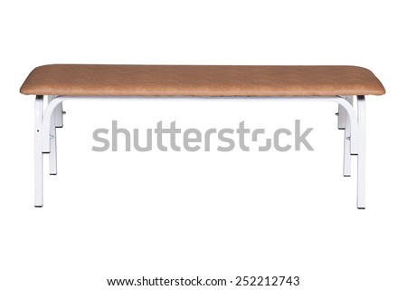 Medical bench isolated under the white background - stock photo