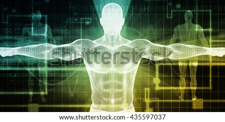 Medical Body Technology as a Futuristic Concept 3d Illustration Render - stock photo