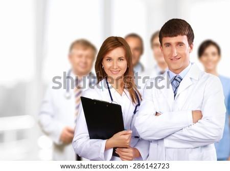 Medical, care, team. - stock photo