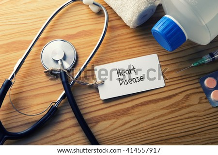 Medical Concept-Heart Disease - stock photo