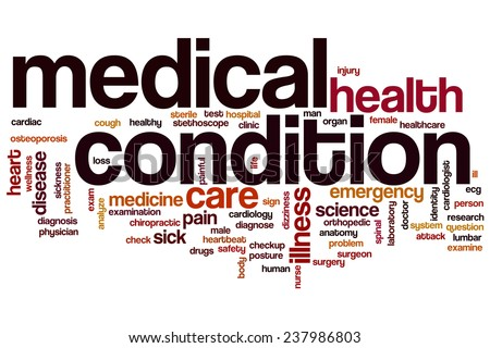 Medical condition word cloud concept - stock photo