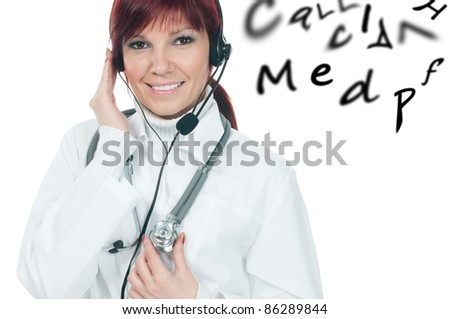 Medical consultation service - stock photo