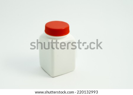medical container on white background - stock photo