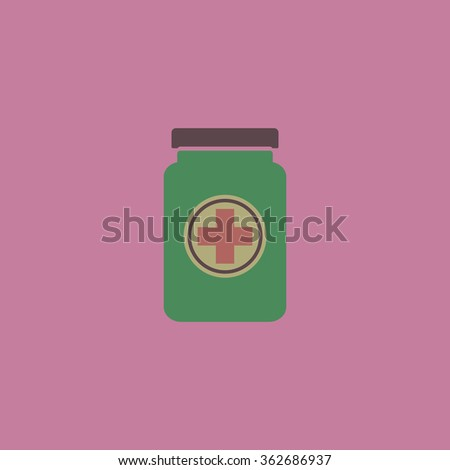 Medical container. Simple flat color icon on colorful background - stock photo