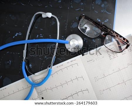 Medical diagnostic tools concept examination - stock photo