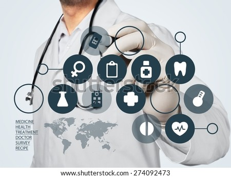 Medical, doctor, patient. - stock photo