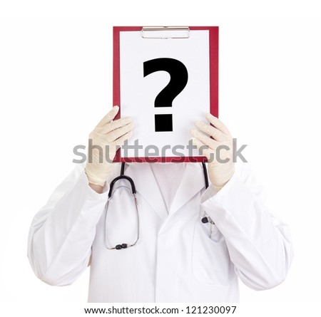 Medical doctor with clipboard - stock photo