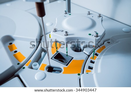 Medical equipment. Biochemistry test. - stock photo