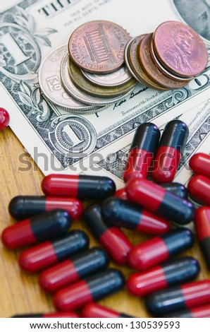 Medical expenses. - stock photo