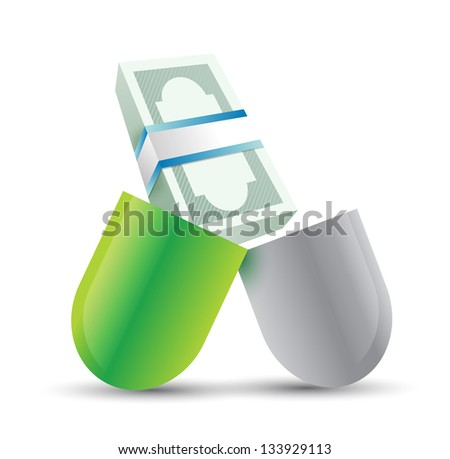medical expenses concept illustration design over a white background - stock photo