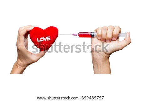 Medical for heart on white isolated background with clipping path. - stock photo