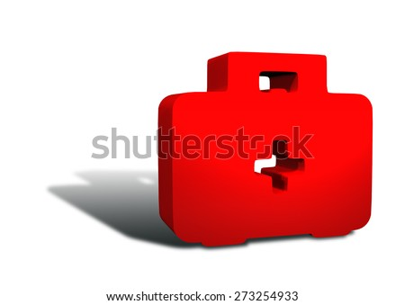 medical icons case - stock photo