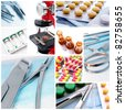 Medical instruments and preparats - stock photo