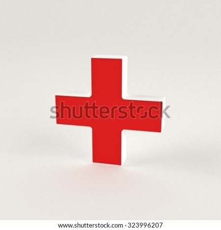 Medical isolated 3D cross  - stock photo