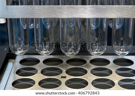 Medical lab equipment. analysis systems. - stock photo