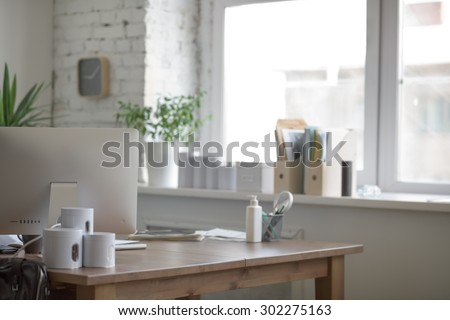 Medical office interior with nobody - stock photo