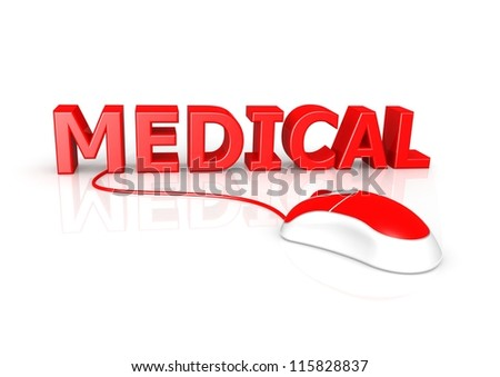 Medical on-line - stock photo
