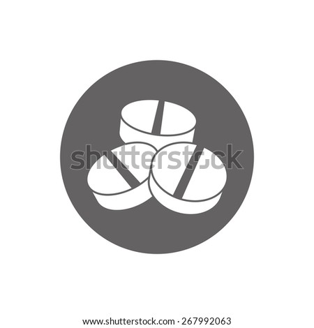 Medical pill icon. - stock photo