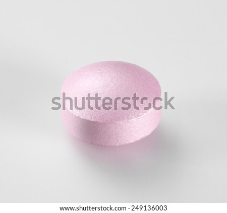 Medical Pill isolated on white background.  - stock photo