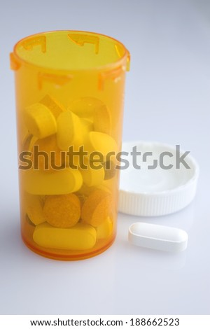 medical pills bottle - stock photo