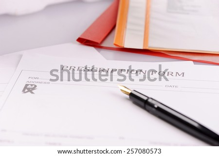 Medical prescription - stock photo