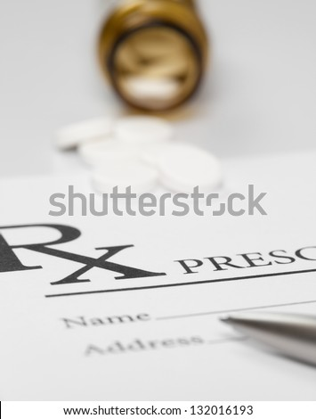 Medical prescription - ideas for health-care - stock photo